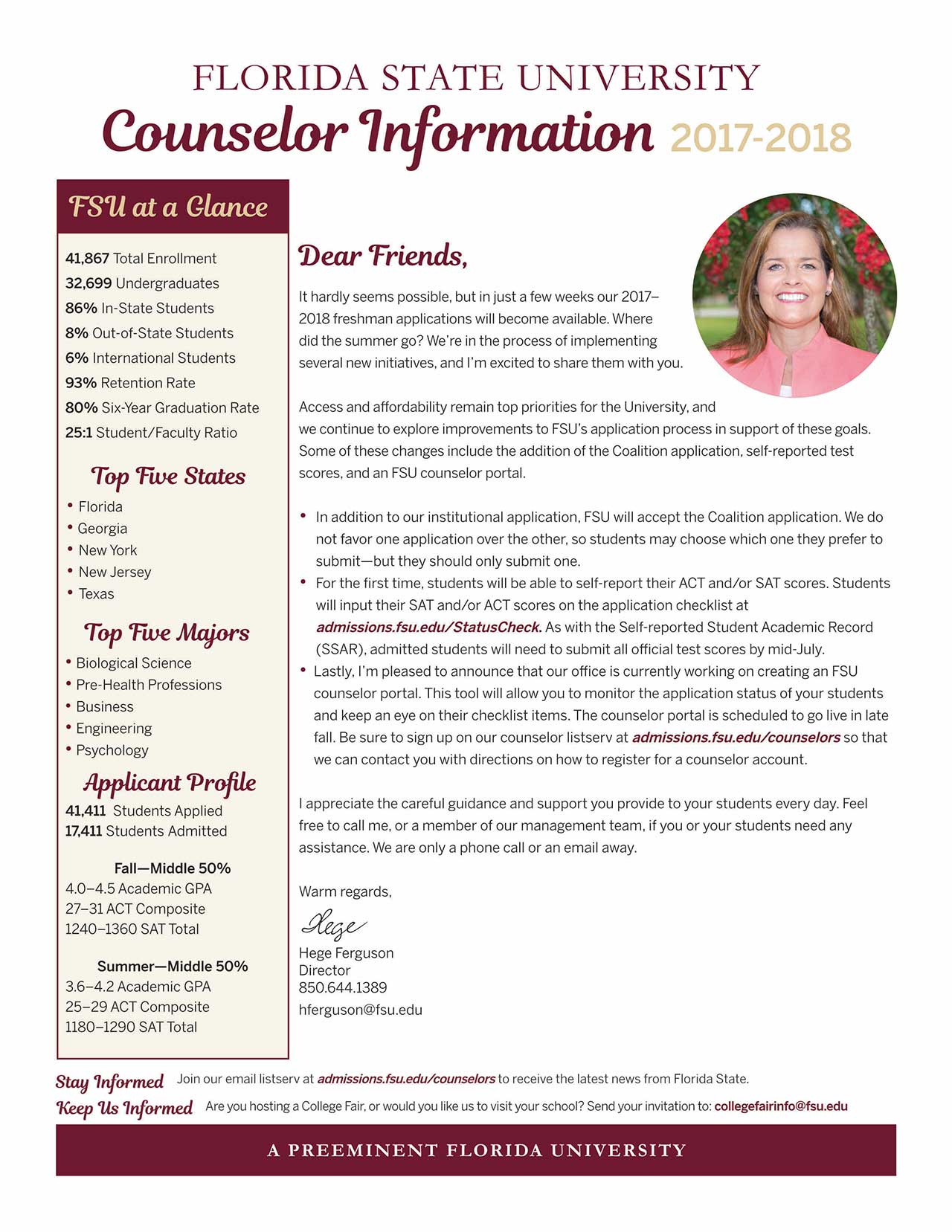 Fsu admissions counselors brochure - University of florida office of admissions ...