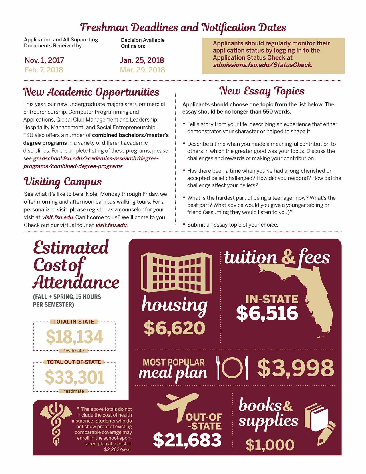 fsu admissions publications fsu campus book